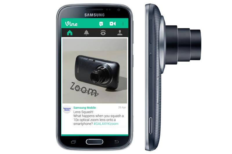 Samsung GALAXY K Zoom: Cámara profesional y smartphone - Samsung-Galaxy-K-Zoom-Vine