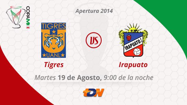 Tigres vs Irapuato, Copa MX Apertura 2014 - Tigres-vs-Irapuato-en-vivo-Copa-MX-2014