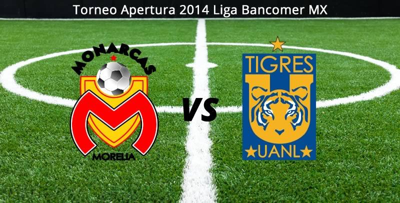 Tigres vs Morelia en la Jornada 6 del Apertura 2014 - Tigres-vs-Morelia-en-vivo-Apertura-2014