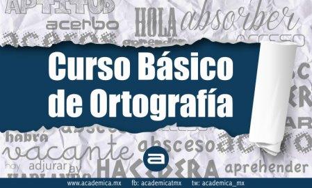 Curso de ortografía básica en línea y gratis