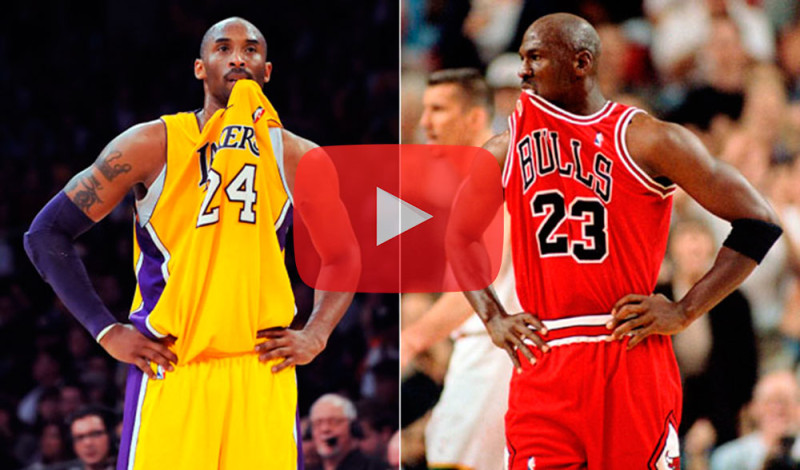 Increíble video con las similitudes entre Michael Jordan y Kobe Bryant - jordan-vs-kobe-800x470