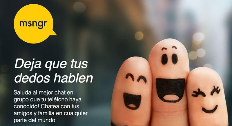msngr: Chatea en tu celular sin consumir datos en Telcel - msngr-chat-gratis