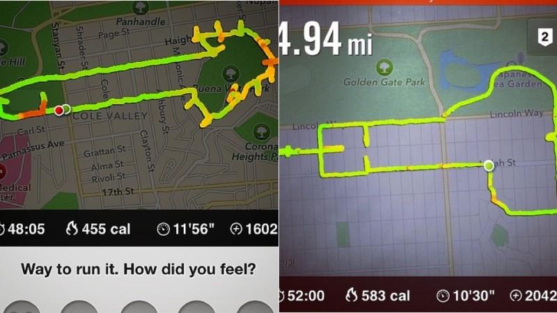 Corredora que usa el GPS de Nike+ para dibujar penes en el mapa - nike+-dibujos-800x450