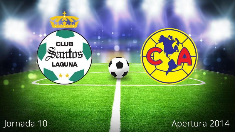 América vs Santos, Jornada 10 Apertura 2014 - America-vs-Santos-en-vivo-Apertura-2014