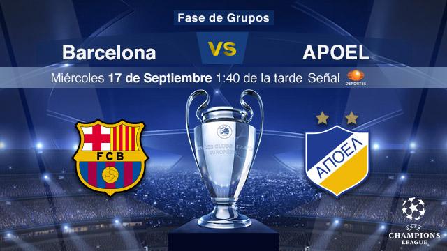 Barcelona vs Apoel, Jornada 1 Champions League - Barcelona-vs-Apoel-en-vivo-Champions-League
