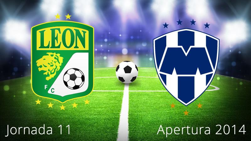 León vs Monterrey, Jornada 11 Apertura 2014 - Leon-vs-Monterrey-en-vivo-Apertura-2014-Jornada-11