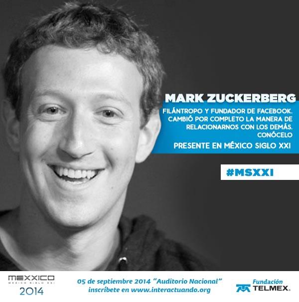 Mark Zuckerberg y Ronaldinho vendrán a México para el evento México Siglo XXI - Mark-Zuckerberg-en-Mexico
