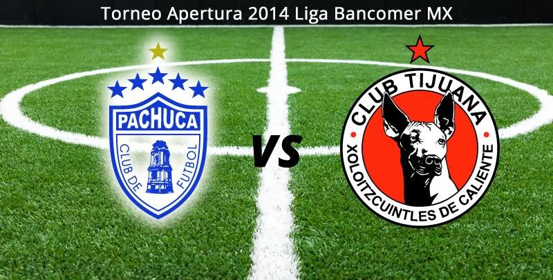 Pachuca vs Tijuana, Jornada 8 del Apertura 2014 - Pachuca-vs-Tijuana-en-vivo-Apertura-2014