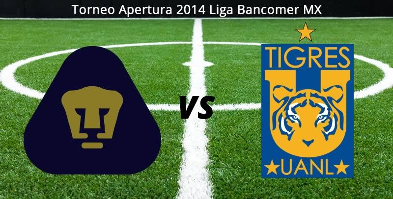 Pumas vs Tigres en vivo Apertura 2014 Pumas vs Tigres, Jornada 8 del Apertura 2014