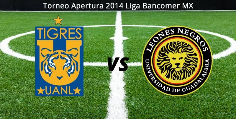 Tigres vs Leones Negros UDG, Jornada 9 Apertura 2014 - Tigres-vs-Leones-Negros-UDG-en-vivo-Apertura-2014