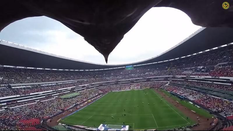 El vuelo del águila grabado con una GoPro en el estadio Azteca durante el América vs Pumas - Vuelo-del-Aguila-Estadio-Azteca-GoPro