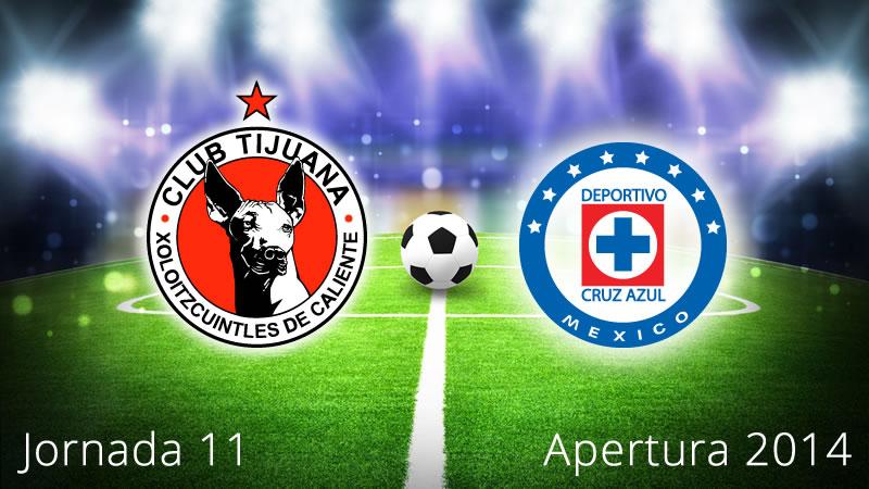 Cruz Azul vs Tijuana, Jornada 11 Apertura 2014 - Xolos-de-Tijuana-vs-Cruz-Azul-en-vivo-Apertura-2014-Jornada-11