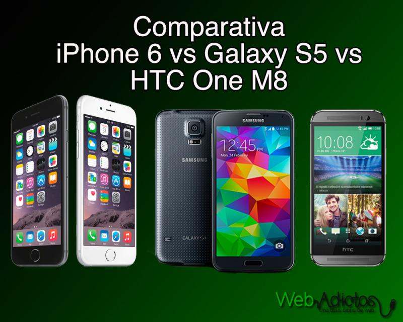Comparativa iPhone 6 vs Samsung Galaxy S5 vs HTC One M8 vs Sony Xperia Z3 - iPhone6-vs-Samsung-galaxy-s5-comparativa-800x640