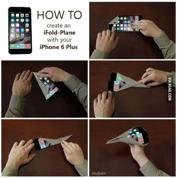 Las mejores críticas y burlas hacia el iPhone 6 #bendgate - papiroflexia-meme-iphone-6-plus