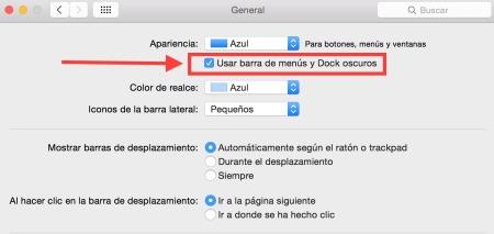 Cómo activar el modo Oscuro (Dark Mode) en OS X Yosemite - Activar-modo-oscuro-os-x-yosemite-3-450x213