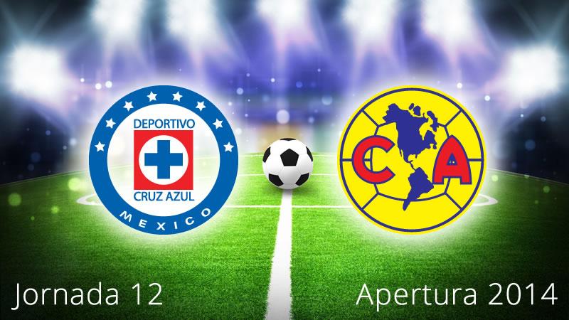 América vs Cruz Azul, Jornada 12 Apertura 2014 - America-vs-Cruz-Azul-en-vivo-Apertura-2014-Jornada-12