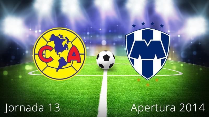 América vs Monterrey, Jornada 13 Apertura 2014 - America-vs-Monterrey-en-vivo-Apertura-2014