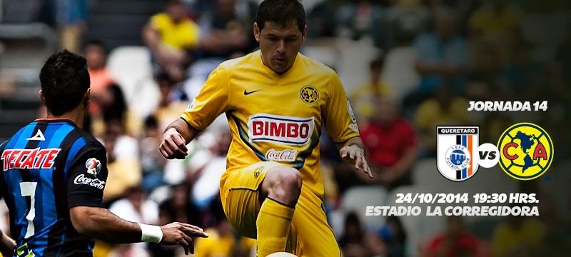 América vs Querétaro, Jornada 14 Apertura 2014 - America-vs-Queretaro-en-vivo-Apertura-2014