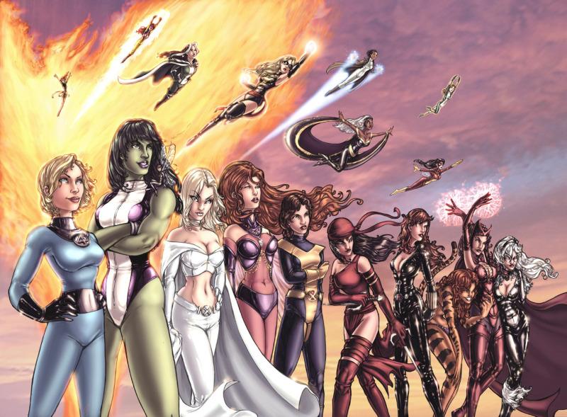 Productora de Marvel quiere una película protagonizada por una heroína - Marvel-Super-Heroines-femme-fatales-11081707-1358-1000-800x589
