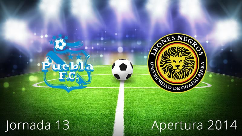 Puebla vs Leones Negros, Jornada 13 Apertura 2014 - Puebla-vs-Leones-Negros-en-vivo-Apertura-2014