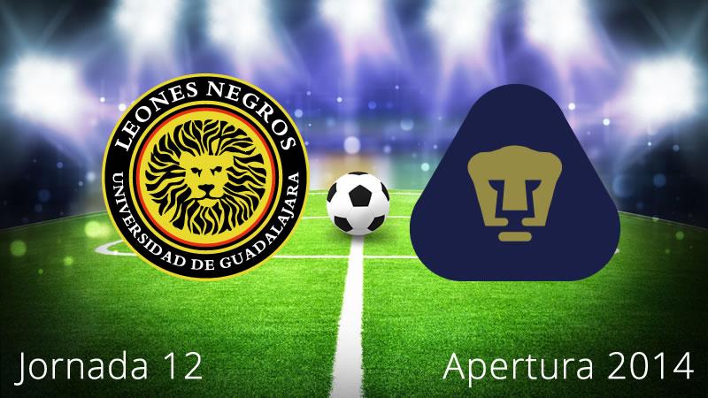 Pumas vs Leones Negros, Jornada 12 Apertura 2014 - Pumas-vs-Leones-Negros-UDG-en-vivo-Apertura-2014-Jornada-12