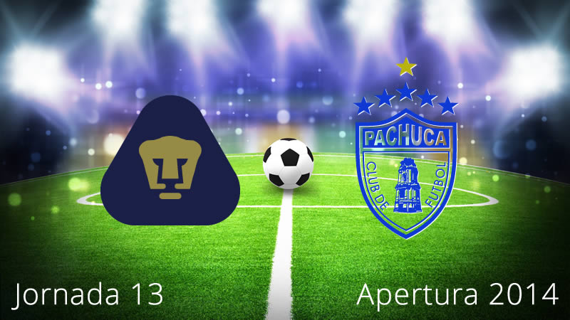 Pumas vs Pachuca, Jornada 13 Apertura 2014 - Pumas-vs-Pachuca-en-vivo-Apertura-2014