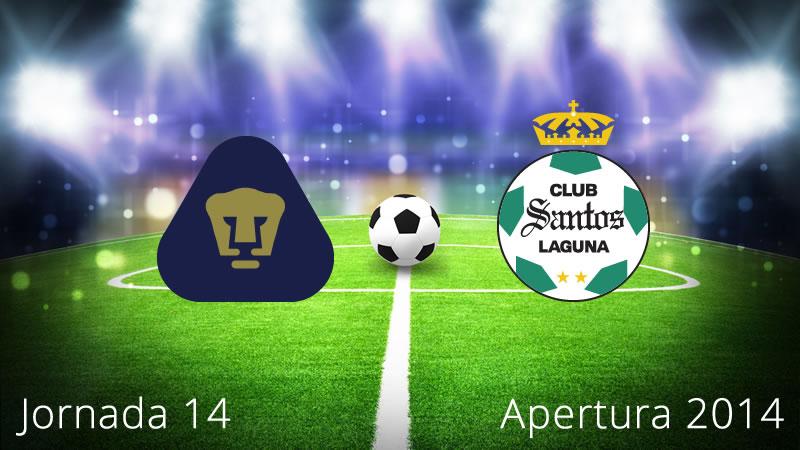 Pumas vs Santos, Jornada 14 Apertura 2014 - Pumas-vs-Santos-en-vivo-Apertura-2014