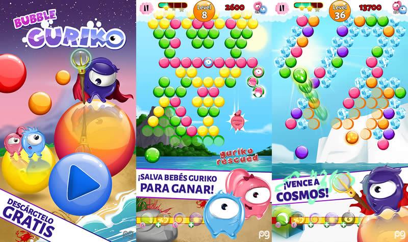 Bubble Guriko, un divertido juego para iOS y Android llega a México - Bubble-Guriko-juego-gratis-iOS-Android