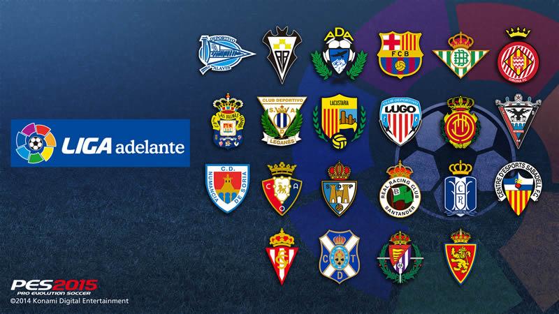 Pro Evolution Soccer 2015 prepara su salida este 13 de noviembre - Liga-Adelante-Espana-PES-2015