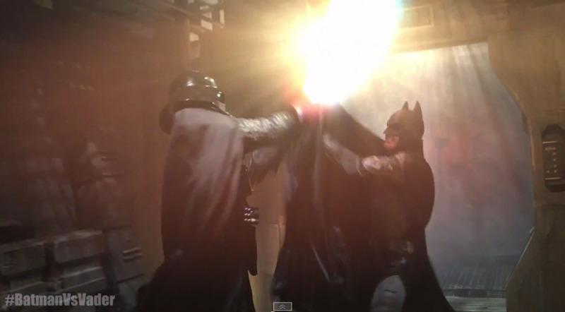 #BatmanVsVader el épico combate entre el Caballero Oscuro y el Lado Oscuro [Video] - batmanvsvader-800x442