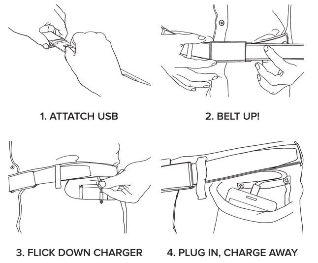 Xoo Belt, el cinturón con el que podrás cargar tu celular - cinturon-que-carga