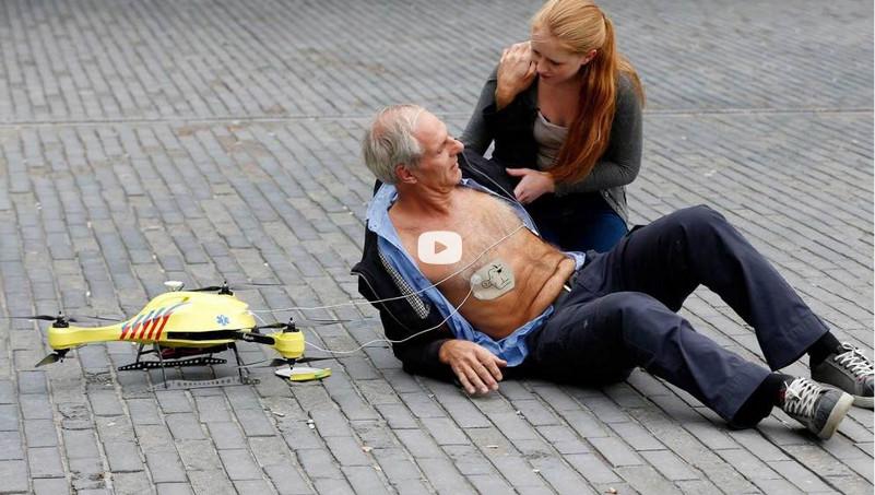 "Inventan dron ""ambulancia"" con kit de primeros auxilios - dron-ambulancia"