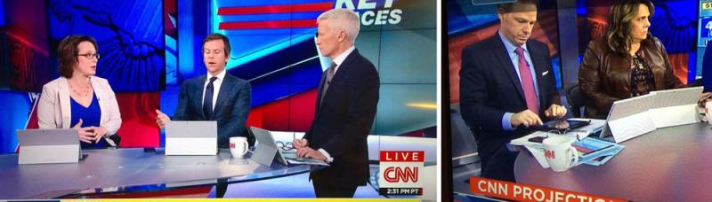 Conductores de CNN captados usando iPads en sección patrocinada por Microsoft Surface - microsoft-surface-ipad-800x228