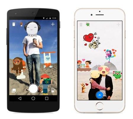Stickered for Messenger, la app de Facebook para decorar fotos