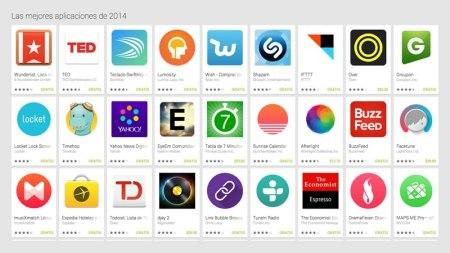 Estas fueron las mejores apps para Android en 2014 según Google
