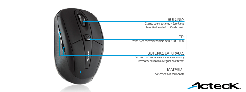 Mouse inalámbricos Xplotion de Acteck ¡Coloridos y accesibles! [Reseña] - mouse-acteck-xplotion