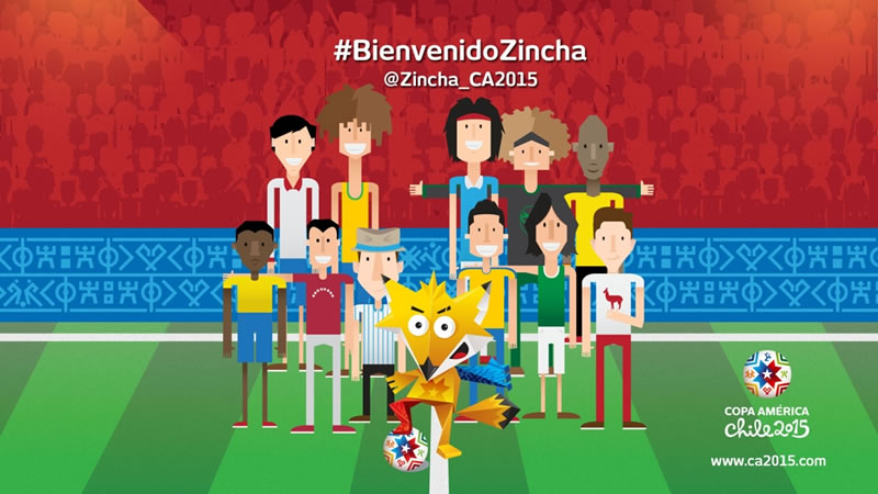 Zincha es el nombre de la mascota de la Copa América Chile 2015 - zincha-mascota-copa-america-2015