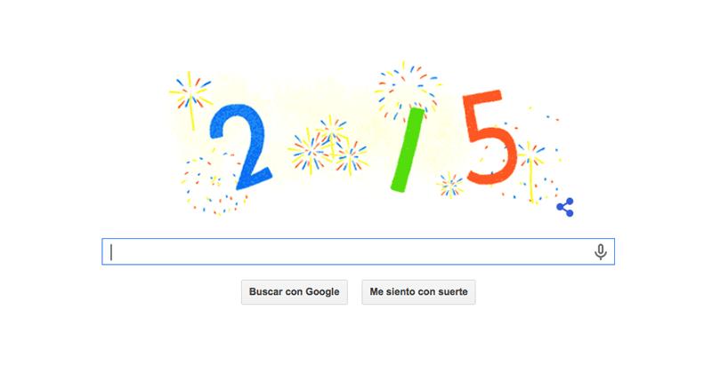 El Doodle de Año Nuevo 2015 de Google - Ano-Nuevo-2015-doodle-800x411