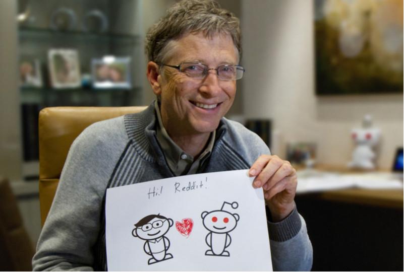 Bill Gates se lamenta de solo saber hablar inglés - Bill-Gates-reddit