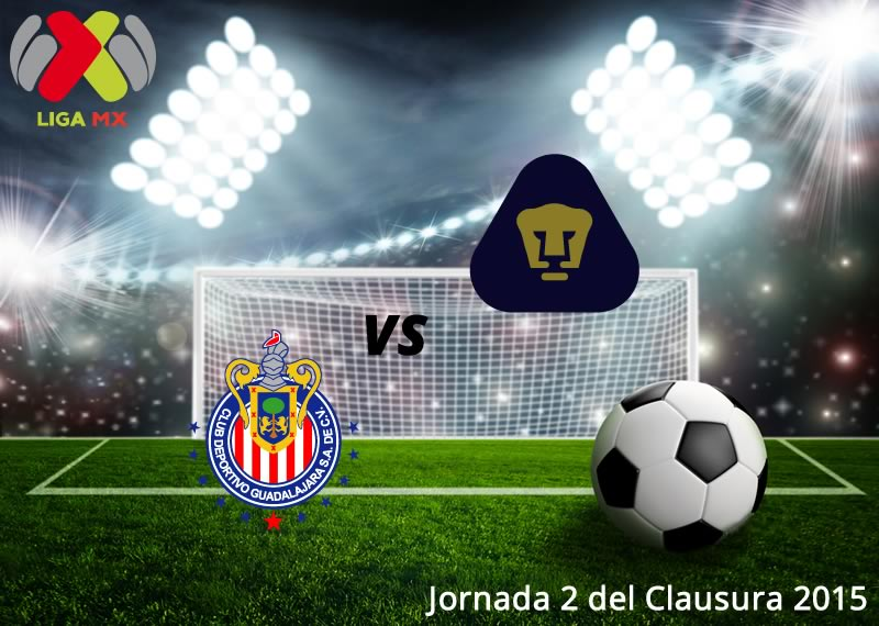 Chivas vs Pumas, Jornada 2 del Clausura 2015 - Chivas-vs-Pumas-en-vivo-Clausura-2015