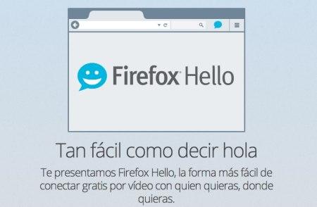 Firefox Hello permite hacer video llamadas desde el navegador