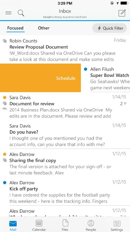 Microsoft lanza Outlook para iOS y Android - Outlook-para-iPhone