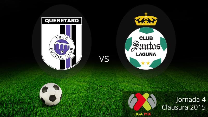 Querétaro vs Santos en la jornada 4 del Clausura 2015 - Queretaro-vs-Santos-en-vivo-Clausura-2015