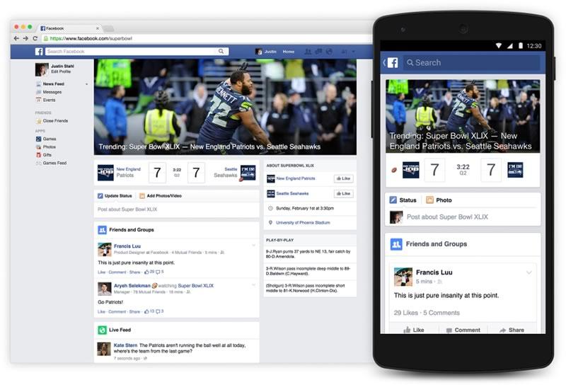 Facebook lanza su sitio para seguir el Super Bowl 2015 - Super-Bowl-2015-en-Facebook