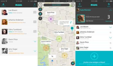 Wave, una app que te permite localizar a amigos y familiares
