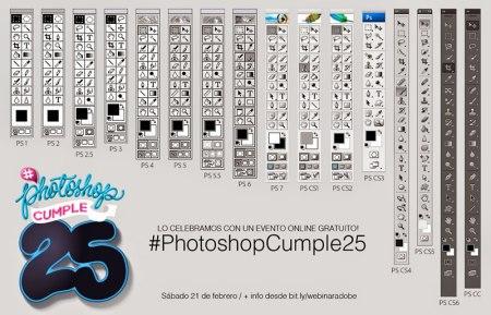 Adobe Photoshop cumple 25 años y lo celebra con un webinar que no puedes perderte