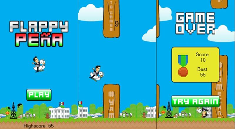 Flappy Peña, el juego que se burla del presidente de México - Flappy-Pena-Juego-Android