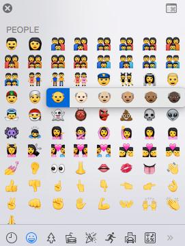 Apple apuesta por la diversidad con la nueva colección de emojis - emojis-opciones