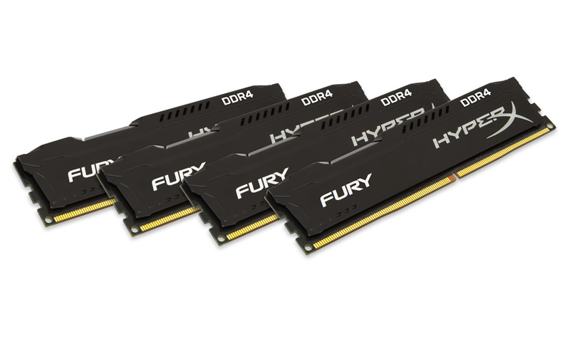 HyperX lanza memoria FURY DDR4 y kits Predator DDR4 de 32GB y 64GB - HyperX-FURY-DDR4