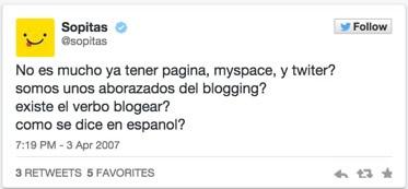 Twitter cumple 9 años y hace un repaso de su historia en tweets - Primer-Tweet-Sopitas